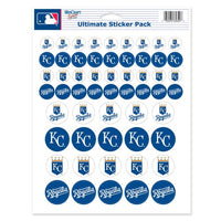 "Kansas City Royals MLB 8.5"" x 11"" Vinyl Sticker Decal Sheet"