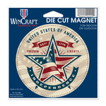 "Support America Patriotic 4"" Round Magnet - Independence Star"