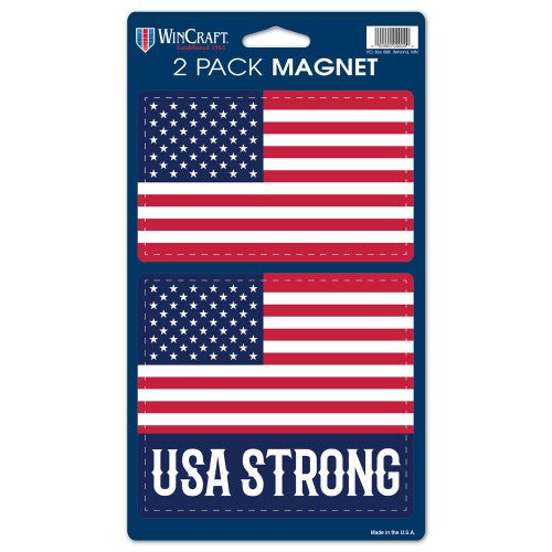 Support America Patriotic 2 Pk Magnets - American Flag