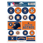 "Houston Astros MLB 5"" x 7"" Vinyl Sticker Decal Sheet"