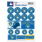 "Milwaukee Brewers MLB 5"" x 7"" Vinyl Sticker Decal Sheet - Retro"