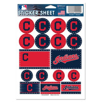 "Cleveland Indians MLB 5"" x 7"" Vinyl Sticker Decal Sheet"