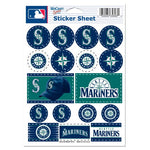 "Seattle Mariners MLB 5"" x 7"" Vinyl Sticker Decal Sheet"