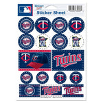 "Minnesota Twins MLB 5"" x 7"" Vinyl Sticker Decal Sheet"