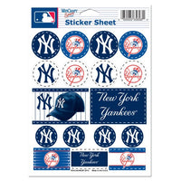 "New York Yankees MLB 5"" x 7"" Vinyl Sticker Decal Sheet"