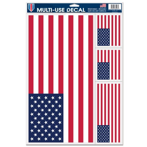 "Support America Patriotic 11"" x 17"" Decal Sheet - American Flags"