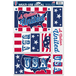 "Support America Patriotic 11"" x 17"" Decal Sheet - A Nation United"