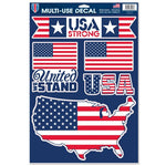 "Support America Patriotic 11"" x 17"" Decal Sheet - USA Strong"