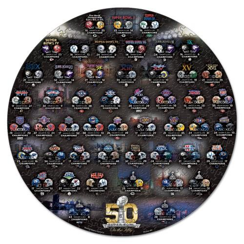 Super Bowl 50th Anniversary NFL 500-Piece Jigsaw Puzzle