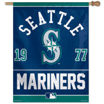 "Seattle Mariners MLB 27"" x 37"" Year Established Vertical Flag"