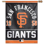 "San Francisco Giants MLB 27"" x 37"" Year Established Vertical Flag"