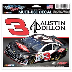 "Austin Dillon NASCAR 4.5"" x 5.5"" Multi Use Decal - Color Car Image"