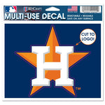 "Houston Astros MLB 4.5"" x 5.75"" Cut-to-Logo Multi-Use Decal - Logo"