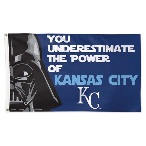 Kansas City Royals MLB Star Wars Darth Vader 3' x 5' Single-Sided Deluxe Flag
