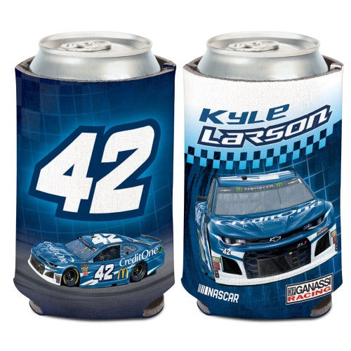 Kyle Larson NASCAR Can Cooler - Credit One (Image Shows Front and Back View)