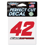 "Kyle Larson 4"" x 4"" NASCAR Perfect Cut Decal"