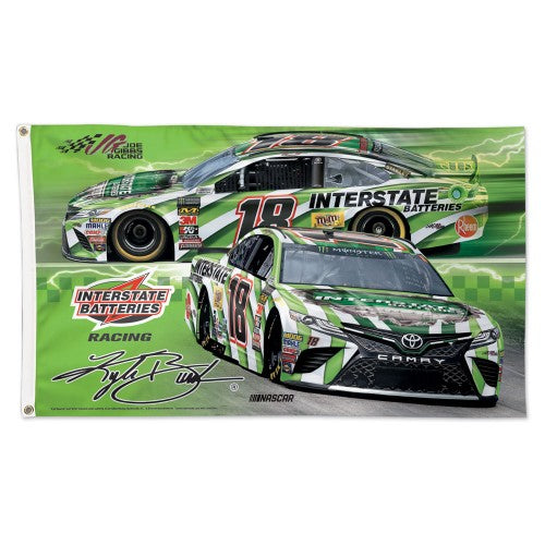 Kyle Busch NASCAR 3' x 5' Single-Sided Deluxe Flag - Interstate Batteries