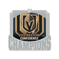 Vegas Golden Knights NHL Collectible Pin - 2018 Stanley Cup Western Conference Champions