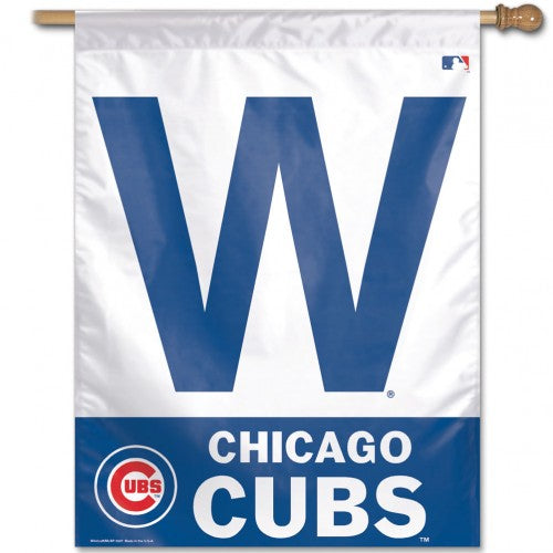 "Chicago Cubs MLB 27"" x 37"" Vertical Flag - Cubs Win/W Flag"