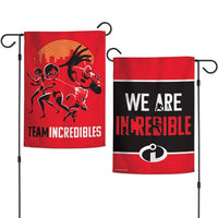 "Walt Disney The Incredibles 2-Sided 12"" x 18"" Garden Flag - Team Incredibles"