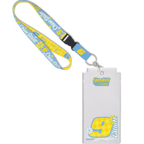 Chase Elliott NASCAR Flower Power Credential Holder with Lanyard