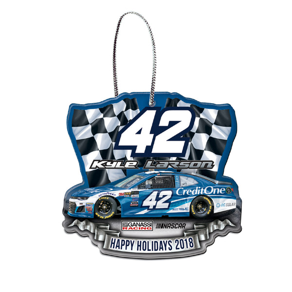Kyle Larson NASCAR 2018 Dated Acrylic Ornament