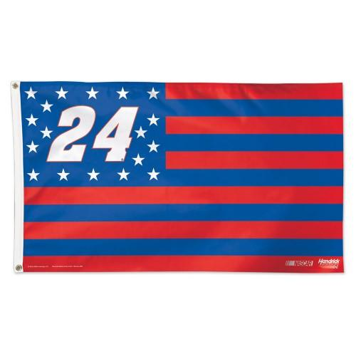 Chase Elliott #24 NASCAR 3' x 5' Single-Sided Deluxe Flag - American Flag