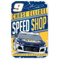 Chase Elliott NASCAR Speed Shop 11 x 17 Plastic Sign