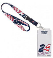 Chase Elliott #24 NASCAR Patriotic Credential Holder with Lanyard