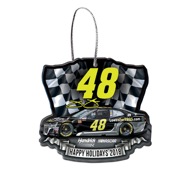 Jimmie Johnson NASCAR 2018 Dated Acrylic Ornament