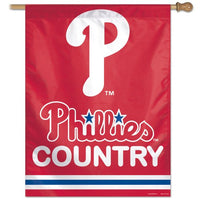 "Philadelphia Phillies MLB 27"" x 37"" Vertical Flag - Phillies Country"