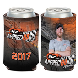 Dale Earnhardt Jr Appreci88ion Tour NASCAR Can Cooler (Image Shows Front and Back View)