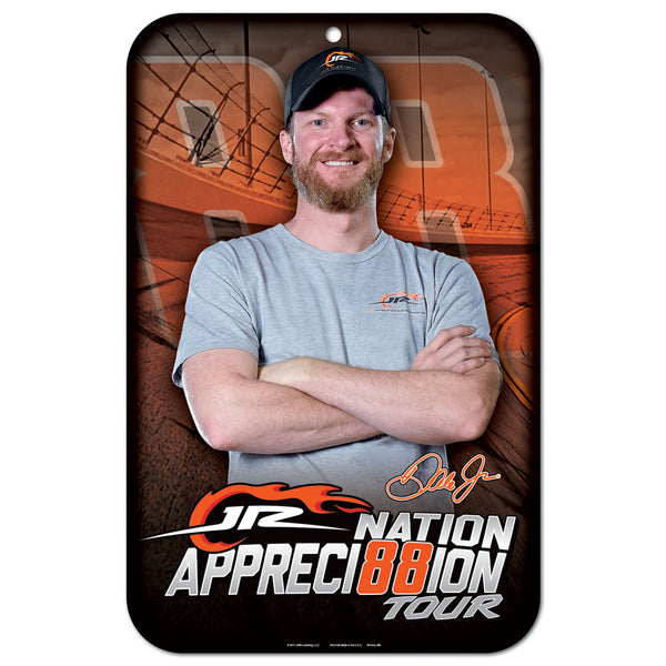 Dale Earnhardt Jr NASCAR Fan Appreciation Tour 11 x 17 Plastic Sign