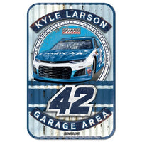 Kyle Larson NASCAR Garage Area 11 x 17 Plastic Sign