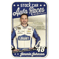 "Jimmie Johnson NASCAR Vintage 11"" x 17"" Plastic Sign"