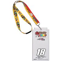 Kyle Busch NASCAR M&M's Credential Holder with Lanyard