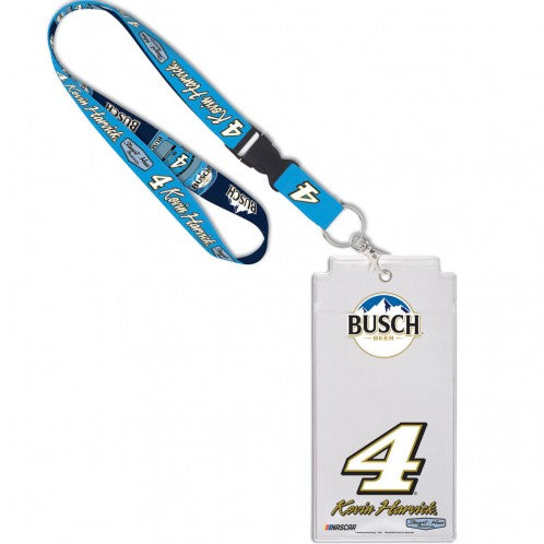 Kevin Harvick NASCAR Busch Beer Credential Holder with Lanyard