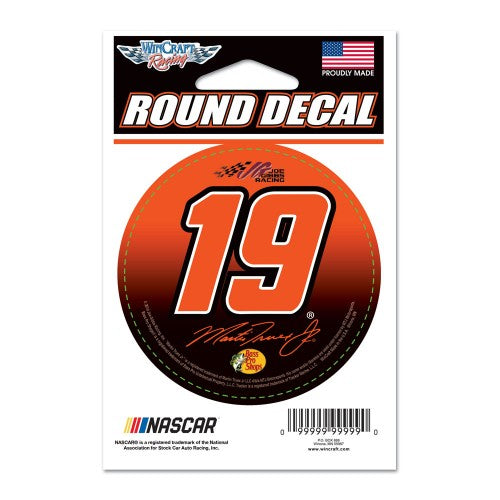 "Martin Truex Jr 3"" Round NASCAR Decal"