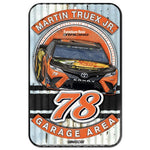 Martin Truex Jr NASCAR Garage Area 11 x 17 Plastic Sign