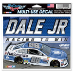 "Dale Earnhardt Jr NASCAR 4.5"" x 5.5"" Multi Use Decal - Color Car Image"