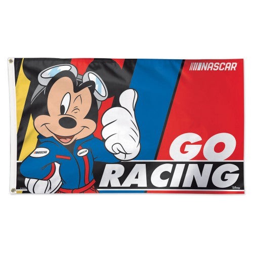 NASCAR 3' x 5' Single-Sided Deluxe Flag - Mickey Mouse