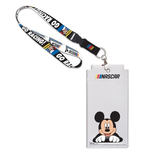 Disney Mickey Mouse NASCAR Credential Holder with Lanyard