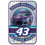 Bubba Wallace NASCAR Garage Area 11 x 17 Plastic Sign
