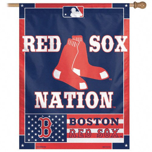 "Boston Red Sox MLB 27"" x 37"" Vertical Flag - Red Sox Nation"