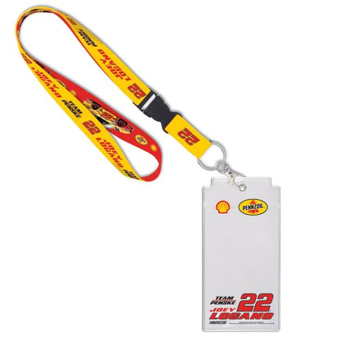 Joey Logano NASCAR Pennzoil Credential Holder with Lanyard