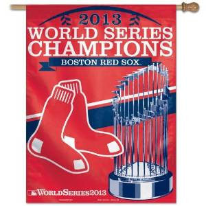 "Boston Red Sox MLB 27"" x 37"" Vertical Flag - 2013 World Series Champions"