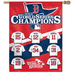 "Boston Red Sox MLB 27"" x 37"" Vertical Flag - 2013 World Series Player Jerseys"