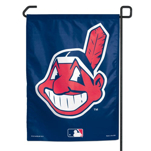 "Cleveland Indians MLB 11"" x 15"" Garden Flag - Chief Wahoo"