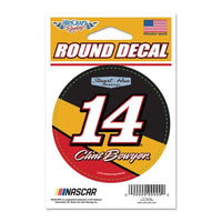 "Clint Bowyer 3"" Round NASCAR Decal"
