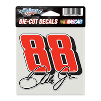 "Dale Earnhardt Jr 4"" x 4"" NASCAR Perfect Cut Decal"